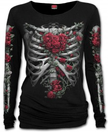 Ladies shirt ROSE BONES