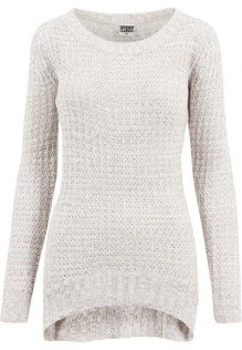 Ladies Long Wideneck Sweater