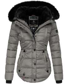 Marikoo ladies Winter jacket Lotusbluete - Grey