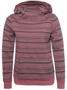 Ladies sweat, high hood, Ethno-Print