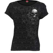 Ladies T-shirt SKULL SCROLL