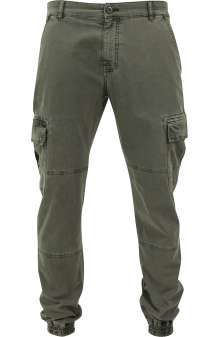 Washed Cargo Twill Jogging Pants TB1435