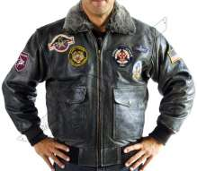 Flight Leather Jacket MA 2 - Top Gun