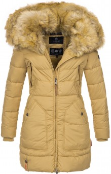 Marikoo ladies Winter jacket Knuddelmaus - Beige