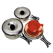 Mess kit, stainless steel, small, 1 pax