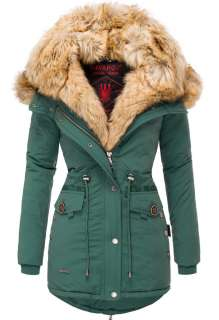 Navahoo ladies winter parka SWEETY - Forest green