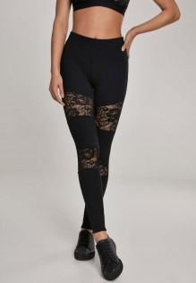 Ladies Laces Inset Leggings Lexy