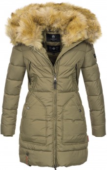 Marikoo ladies Winter jacket Knuddelmaus - Olive