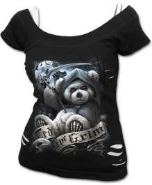 Girls t-shirt TED THE GRIM - TEDDY BEAR