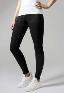 Ladies Imitation Suede Leggings