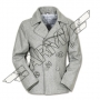 Men jacket Pea Coat - Grey